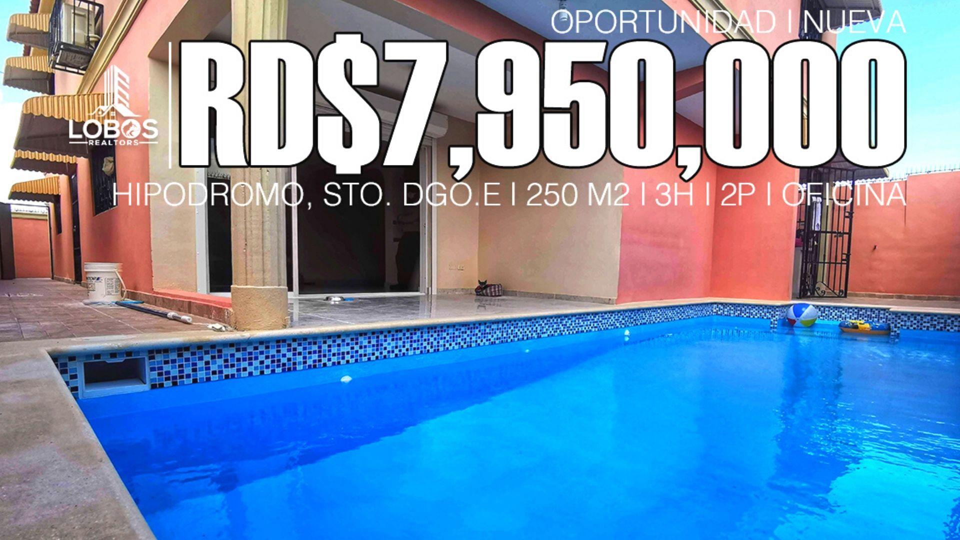 Casa nueva y con piscina próximo al Hipodromo